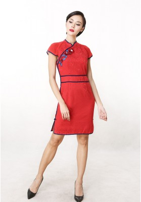 Aimee Cheongsam Dress Red