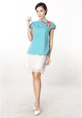 Claudia Cheongsam Top Green