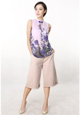 Ariel Floral Top Purple
