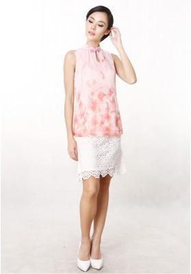 Ariel Floral Top Pink