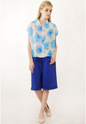 Ally Floral Top Blue