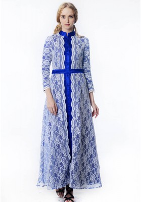 Arabella Lace Dress Blue