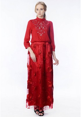 Aria Dress Red