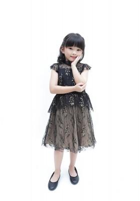 Agnola Lace Dress Black