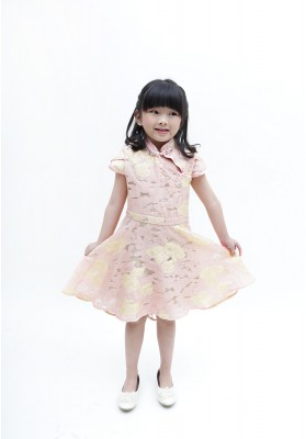 Madison Cheongsam Dress Pink