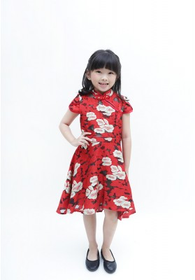Madison Cheongsam Dress Red