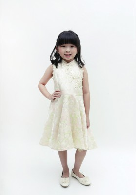 Little Patricia Cheongsam Dress Green