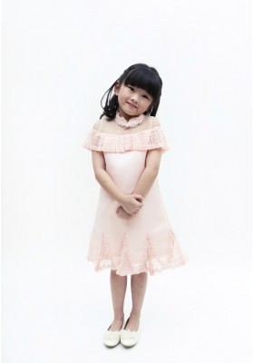 Little Vana Cheongsam Dress Pink