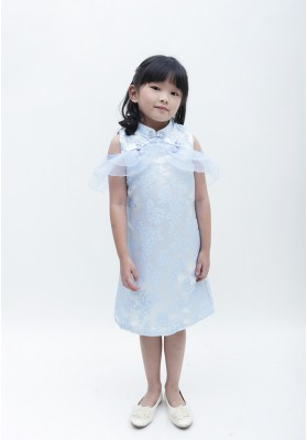 Little Alice Cheongsam Dress Blue
