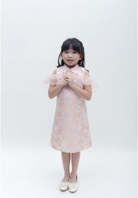 Little Alice Cheongsam Dress Pink