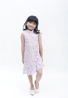 Lanie Cheongsam Dress Gold