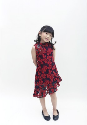 Lanie Cheongsam Dress Red