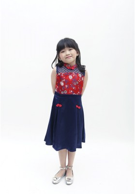 Langley Cheongsam Dress Red