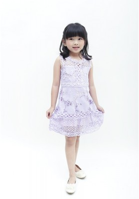 Allison Lace Dress Purple