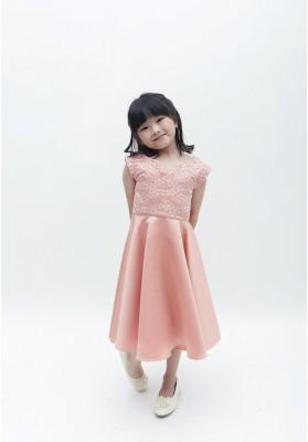Fabrice Lace Dress Pink